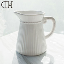 DH Europe white ceramic flower vase for centerpieces for weddings plastic flower vases home decoration accerrories