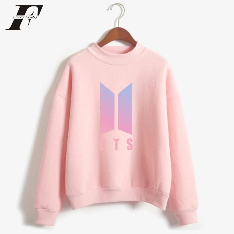 2017 Bts Liebe Selbst Kpop Frauen übergroße Pullover Sweatshirts Bangtan Jungen Rollkragen Pullover Dna Bts Album K-pop Kleidung