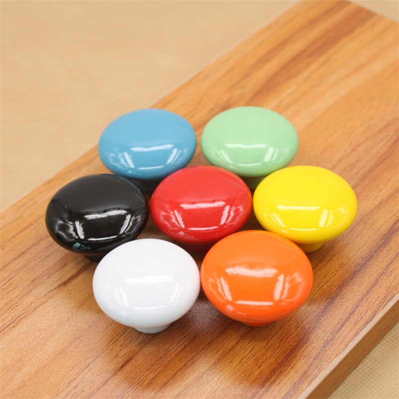 Dia 33mm Ranbow Candy Colors Ceramic Round Cupboard Cabinet Door Pull Handle Kid's Room Wardrobe Drawer Knob dia 33mm ranbow candy colors ceramic round cupboard cabinet door pull handle kid s room wardrobe drawer knob