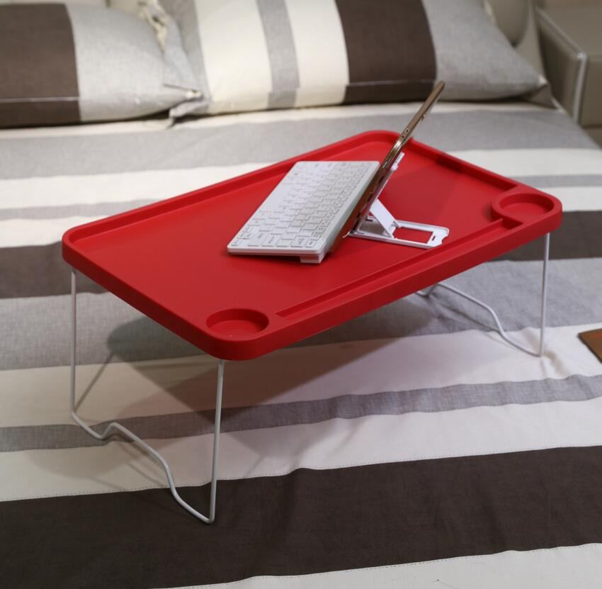 SUFEILE Folding laptop table Plastic Computer desk notebook bed folding table supply Portable Picnic plastic bed table D20 hdpe 6ft folding table 183cm plastic