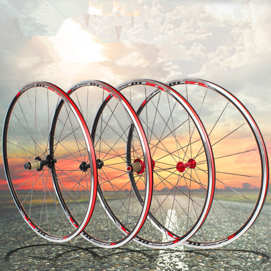 <font><b>RT</b></font> 17 Newest Road Bike Ultra Light Sealed Bearing 700C Wheels <font><b>Wheelset</b></font> Only 1630g Rim Rims image