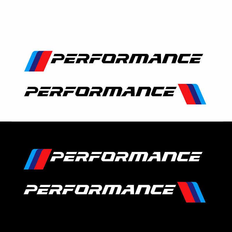 2 個mパフォーマンスフロントバンパーステッカーリアトランクのためのbmwの全モデルF10 F20 F30 E36 E90 E46 x3 X5 G30