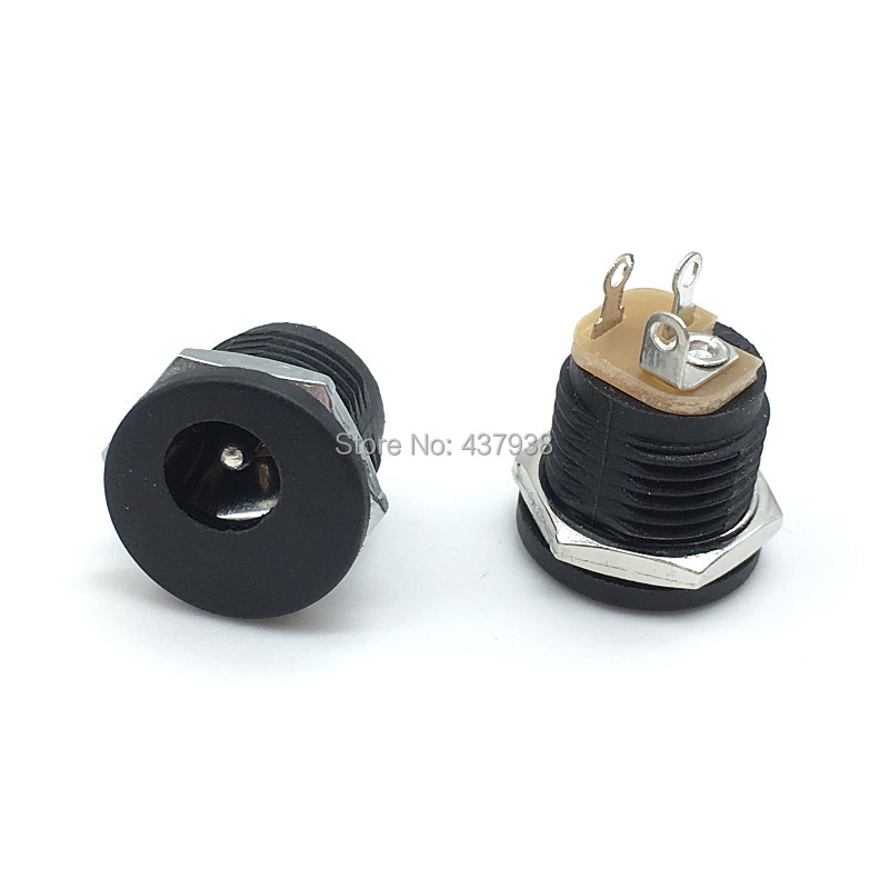 Image 4 - 10pcs DC 022 12V 3A Plastic Male Plugs + Female Socket Panel Mount Jack 5.5x2.1mm DC Power Connector Electrical Supplies-in Connectors from Lights & Lighting