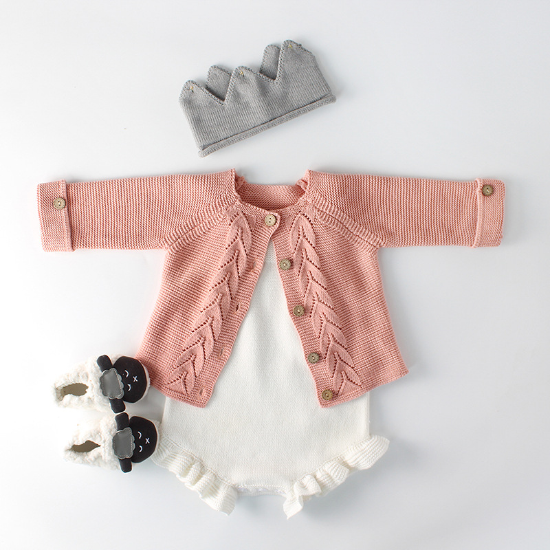 7097e66d63b Newborn baby romper solid white colour girls boys romper knitted jumpsuit