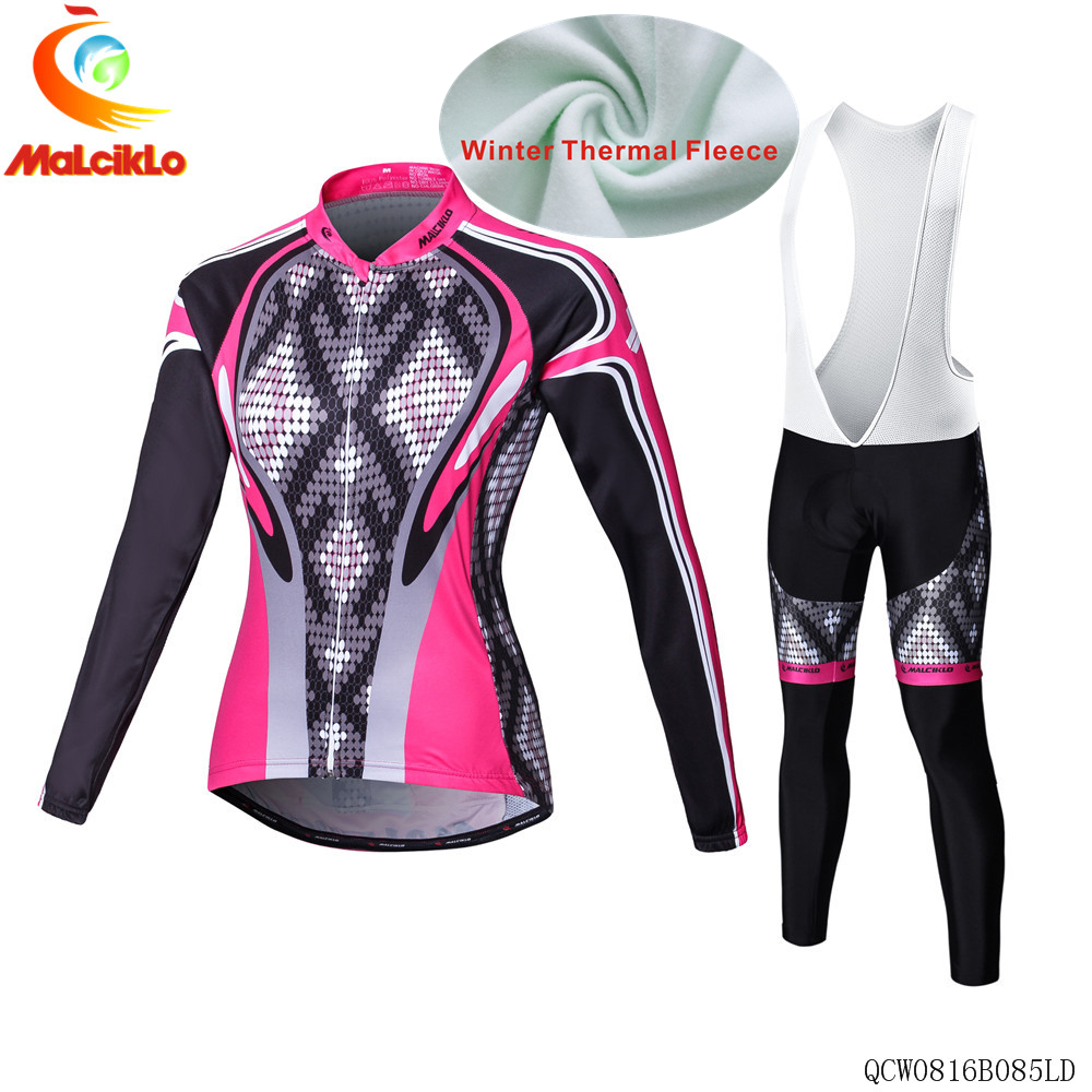 Malciklo Cycling Jersey women Long Sleeve Racing Bike cube Cycling Clothing MTB Cycle Clothes Wear Ropa Ciclismo Sports set 2017 ale cycling jersey women cycling clothing set breathable bike jerseys bicycle mountain wear mtb clothes ropa ciclismo e1103