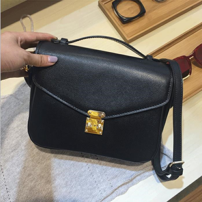 best quality women POCHETTE bag Fashion messenger bag canvas woman genuine leather bags for women Free shipping DHL!