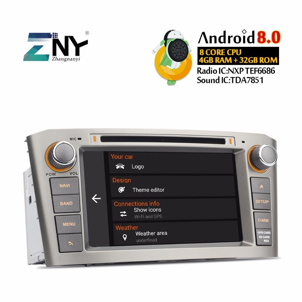 GPS NAVI Autoradio Au Tableau de Bord 2 Din Pour Avensis T25 2003 2004 2005 2006 2007 2008 Android 8.0 DVD de Voiture lecteur 4 gb + 32 gb avec DVR OBD