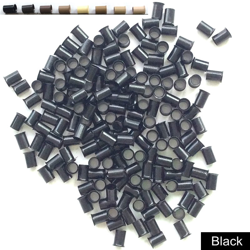 HARMONY 8000 Pieces 4.0x3.6x6mm NO Flat End Copper Micro Rings Euro Copper Tubes for I tip Hair Extensions 8 colors