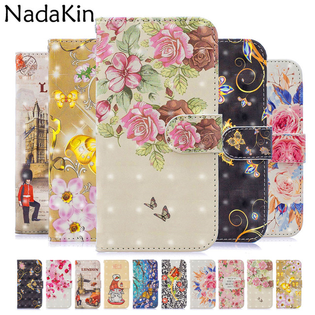 3D Painted Leather Flip Book Phone Case Shell For Samsung Galaxy J5 2016 J3 J7 A5 2017 S7 Edge J4 J6 A6 S8 S9 Plus J8 A8 2018