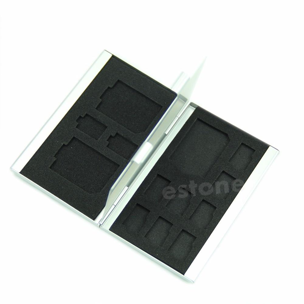 1 Flash-speicher Tf-karte Schutz Aufbewahrungsbox Abdeckung Halter Aluminium Alloy Wasserdichte Reines Und Mildes Aroma