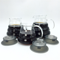 Free Shipping large capacity Espresso coffee server glass coffee pot /high quality teapot kettle measuring cup 360ml 580ml 780ml