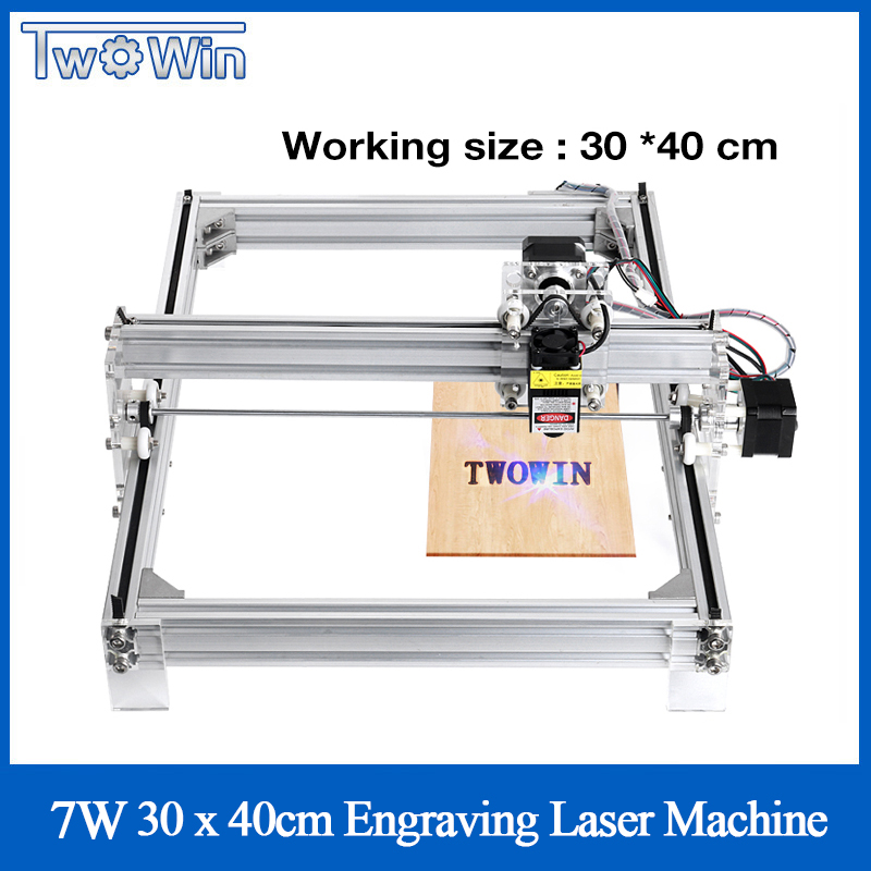 7W 500mw/2500mw /5500mw Desktop DIY Violet Laser Engraving Machine Picture CNC Printer Working Area 40x30cm + Offline Controller