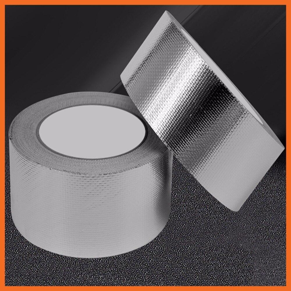 60 мм x 25 м сильный и надежный Стекло волокна серебра алюминиевая Фольга рулон ленты идеально подходит для тепла отражение