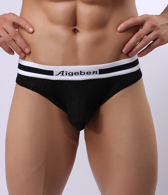 Brand underwear Men's sexy briefs lace panties High quality sexy ...