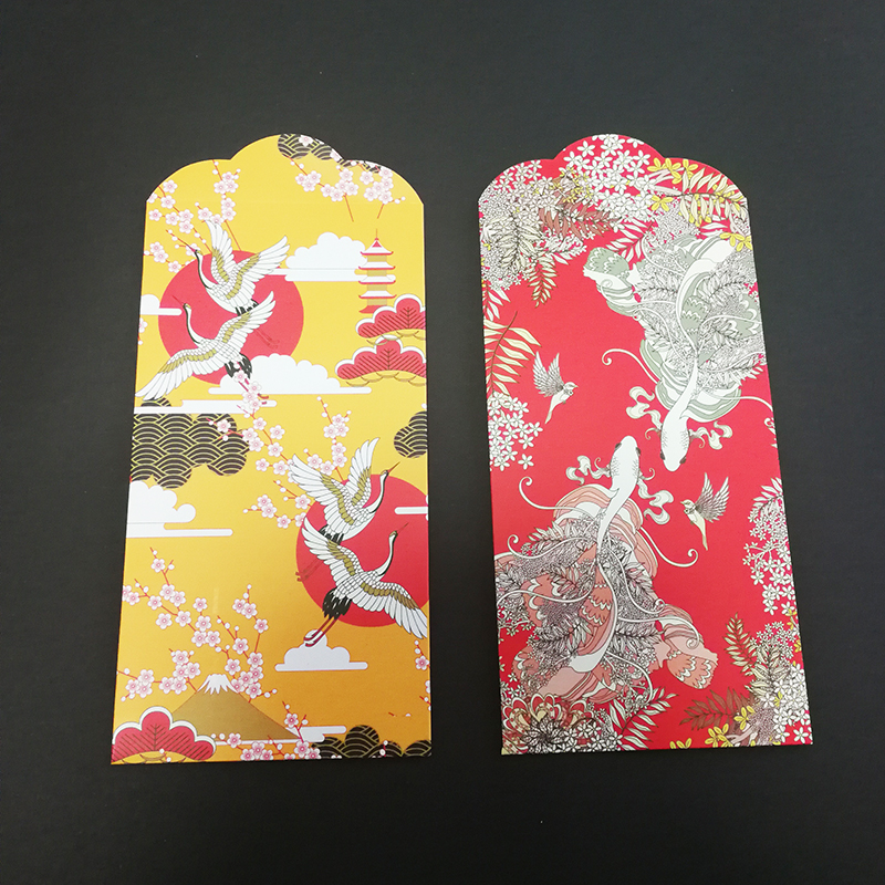 6PCs/set Japanese Style Wedding Money Envelopes (Hong Bao) Little Something For Wedding Gift 3.5*6.8In Red Envelopes