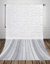 Серый деревянный пол studio Фото Задний план фон тонкий винил белого кирпича для домашних животных пирожки фотографии d-9713
