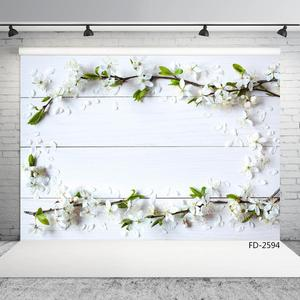 Image 3 - White Wooden Plank Flowers Photographic Backgrounds for Photo Studio Baby Newborn Backdrops for Photo Shootings Goods Cloth Toys