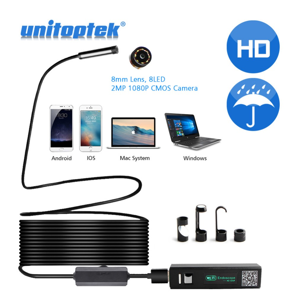 1M 2M 5M 1200P Wifi Endoscope Camera Android Iphone Borescope Waterproof Camera Endoscopic Semi Rigid Hard Tube iOS Wifi Camera Бороскопы
