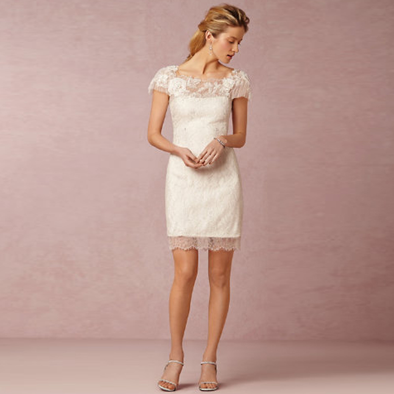 Latest Knee Length Exquisite Lace Wedding Dresses Short ...
