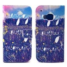 Desfrutar de cada momento Design de couro Pu virar Magnet Wallet fique Pouch Case capa para HTC One M9 nova Hotsale