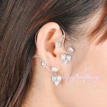 Mytys Diseño Único Cristalino Claro Hierba Vid CE64 Ear Cuff Pendientes de Las Nuevas Mujeres Accesorios de Moda Pendientes de Clip Pendientes de Clip