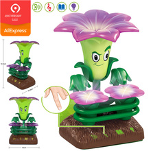 Plants vs Zombies Trumpet Flowers Bass with Symphony Lights Sound English Touch Control Toys