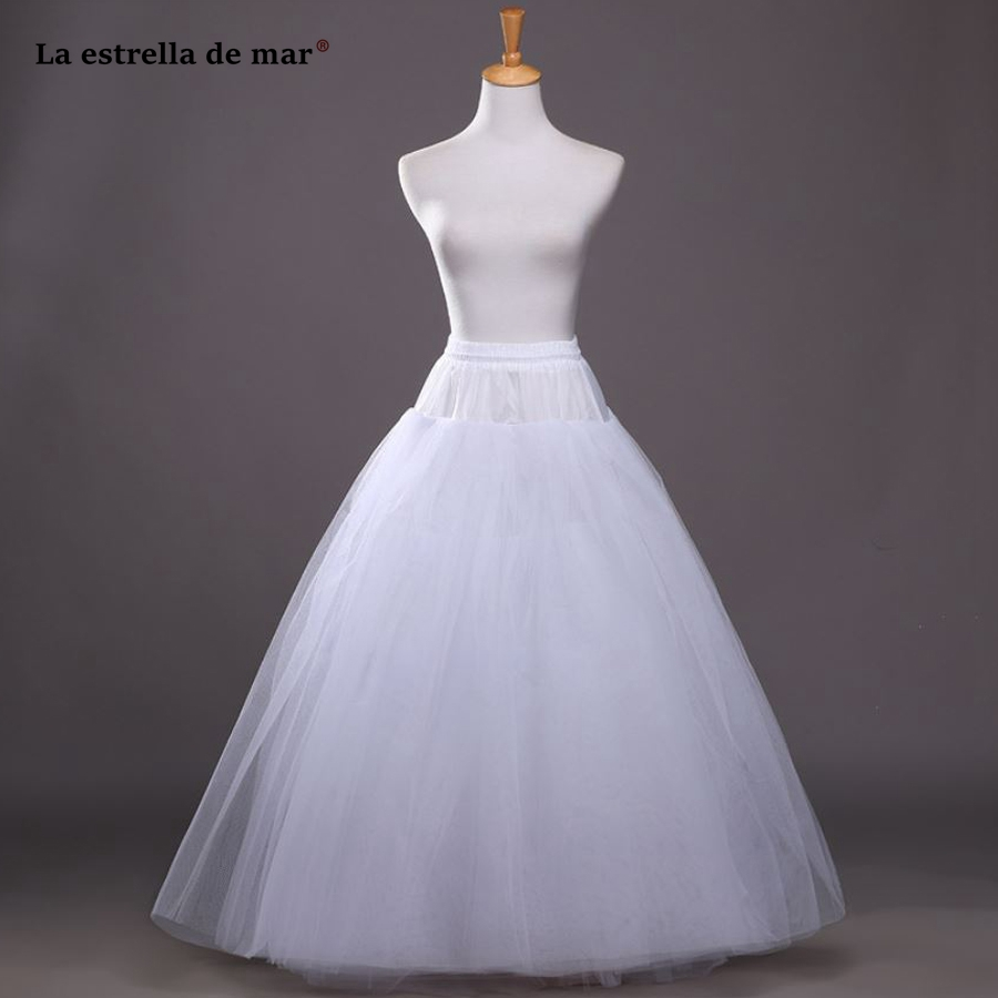 Wedding Accessories Weddings & Events Objective La Estrella De Mar Wholesale Layer Boneless Thick White Tulle Enaguas Para El Vestido De Boda Long Cheap Crinoline Stock Pettico Elegant And Sturdy Package