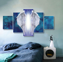 Laeacco Angel Wings Posters and Prints Canvas Painting Calligraphy 5 Panel Wall Picture for Living Room Nordic Home Decoration