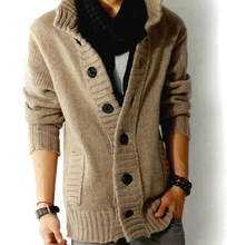 knit cardigan sweater thick sweater coat line casual jacket