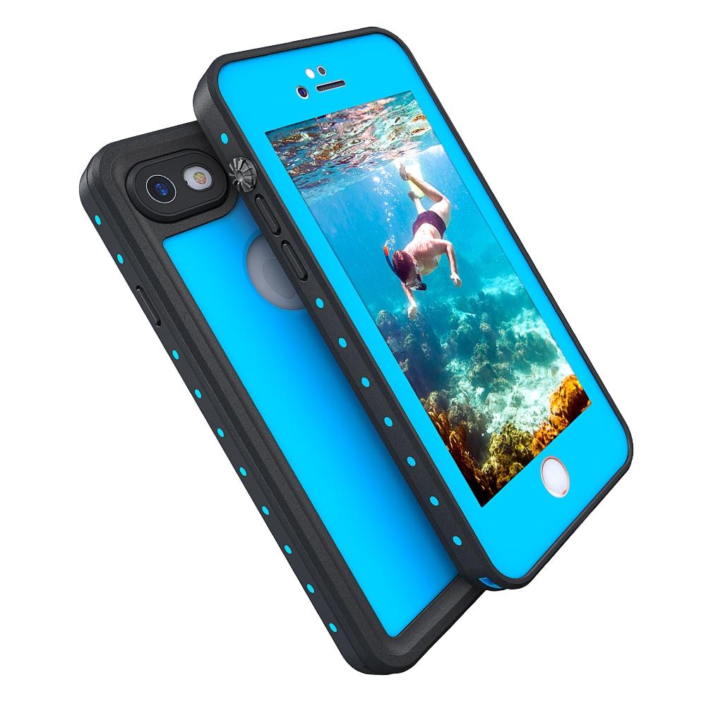 imágenes para Para Coque iphone 7 Caso 100% Impermeable Nadar Surf Bajo Deportes acuáticos Cove para el iphone 7 Más Caso de la Protección Del Teléfono de lujo