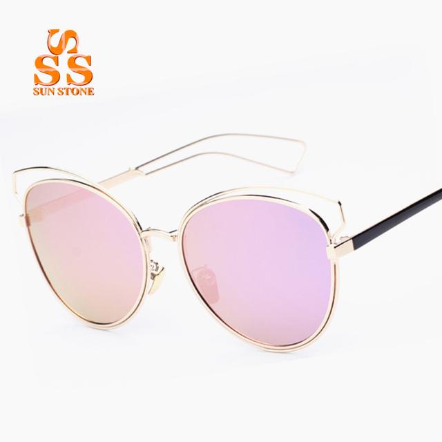 Sunstone slap-up óculos polarizados das mulheres & case new listagem marca tamanho grande oca liga quadro óculos de sol da moda óculos. sb60