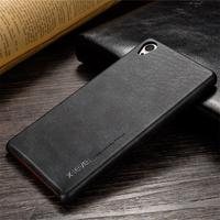 X Level High Quality PU Leather Cases Ultra Thin Full Protection For Sony Z3 Back Cover