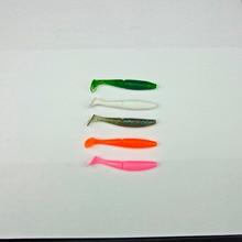 10 Pcs Japan New Fishing Soft Bait For Bass Plastic Lure Swimbait Soft Shad 75mm/3.9g