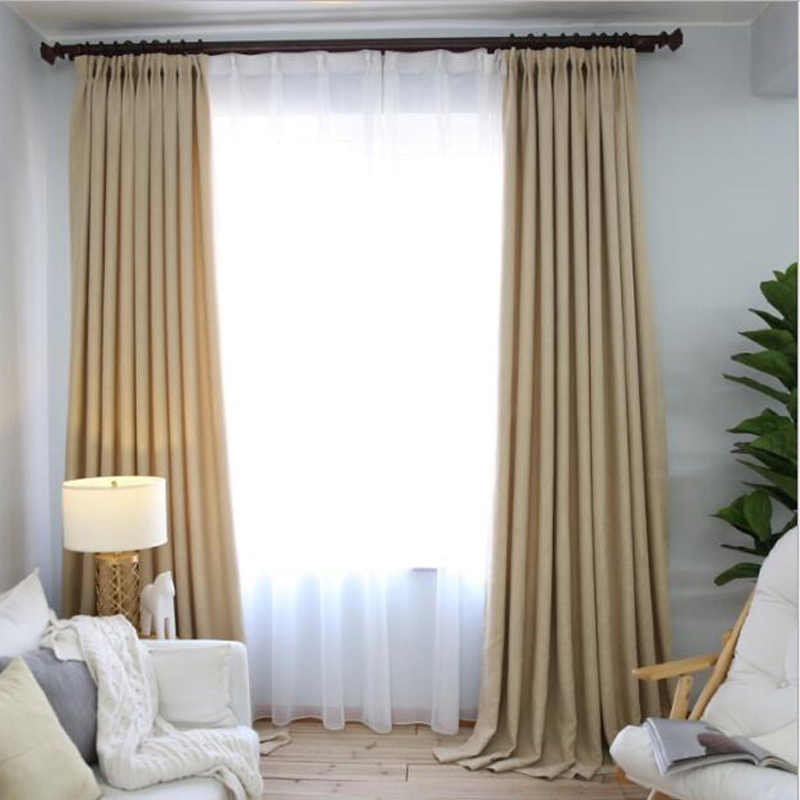 Simple Style Pink Linen Cloth Room Decor Curtains Window drapes for window curtain living room purple sheer curtains WP199B