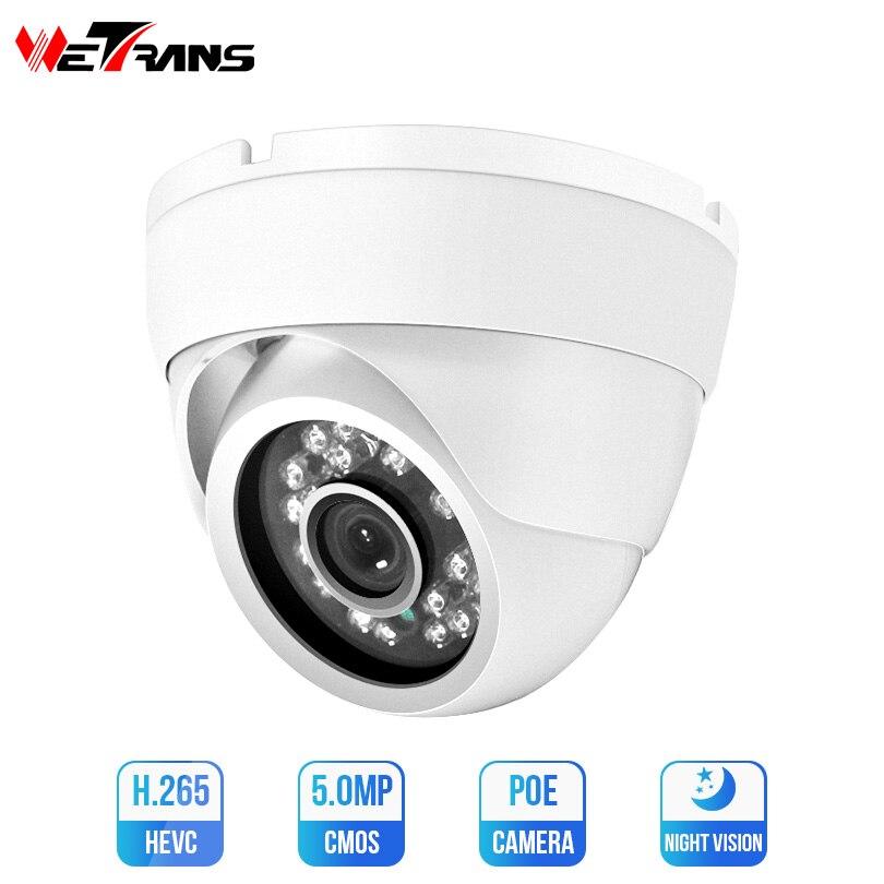 Caméra de sécurité à domicile Wetrans caméra IP 4MP 5MP SONY IMX326 HD caméra de vidéosurveillance IP POE Onvif dôme Vision nocturne 12 V Surveillance Kamera