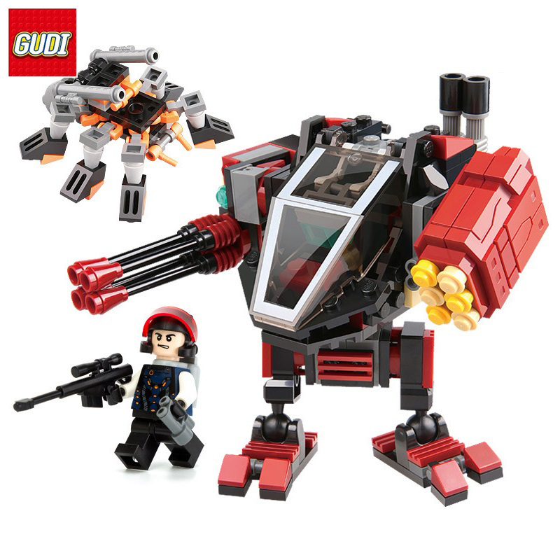 GUDI Star Wars Fighter Blocks 194pcs Bricks DIY Air weapon model building Blocks compatible legoe Playmobil Toys for children