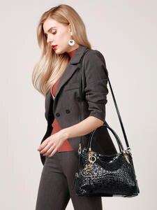 FOXER Брендовая женская сумка на плечо из натуральной кожи с блестками из воловьей кожи, женские роскошные сумки, сумка-тоут, кошелек для женщи...