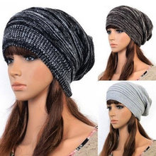 New 3 Colors Unisex Womens Mens Knit Baggy Beanie Hat Winter Warm Oversized Ski Cap Woolen
