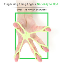 Hand Puller Finger Resistance Bands Exercisers Stretcher Rehabilitation Training Pull Ring Hand Expander Grip Finger Pull