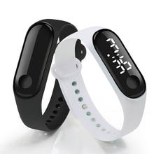 Digital Touch Screen LED Display Silicone Strap Men Women Couple Wristwatch Elec
