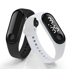 Digital Touch Screen LED Display Silicone Strap Men Women Co