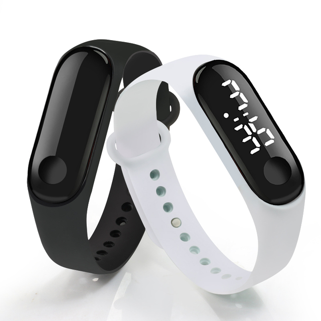Touch Screen Dial White Light LED Display Silicone Strap Men Women Wristband Student Kids Sport Outdoor Clock Bracelet Watch