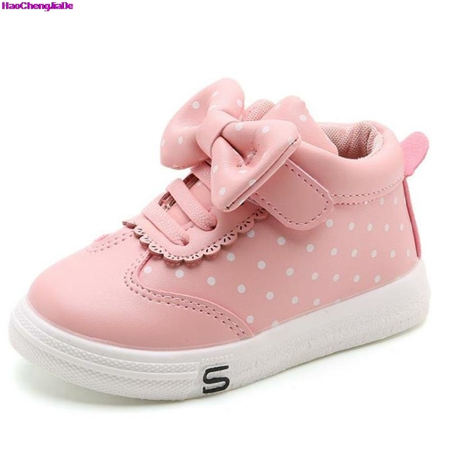 d965e9a11 HaoChengJiaDe Lovely Girl Arco Nuevas Botas Cálidas Niños Casual Zapatos  Para Niñas Botas de Princesa Suaves