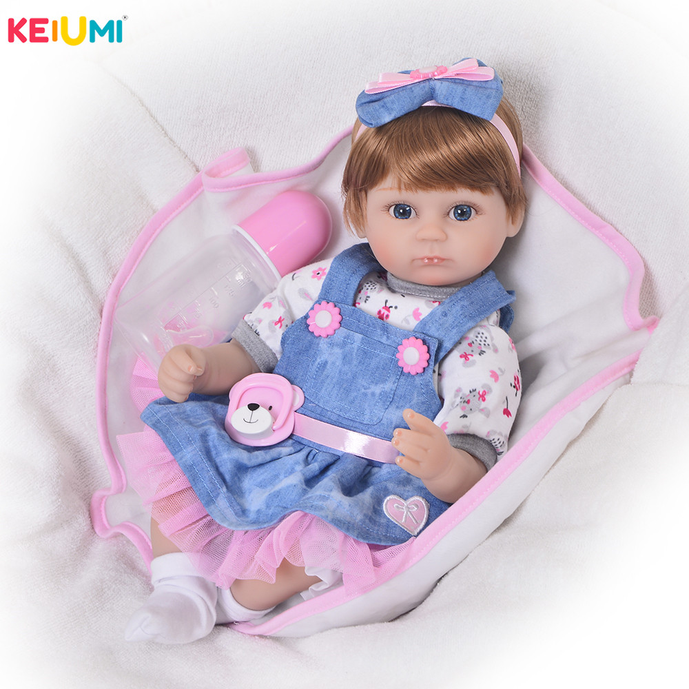 Wholesale 43 cm Reborn Baby Doll Handmade 17 Newborn Dolls Fashion Girls Toys For Cute Children