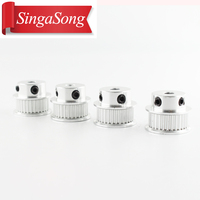 5pcs GT2 Timing Pulley 36 teeth Alumium Bore 5mm or 8mm For width 6MM Belt 2GT for 3d printer Free shipping