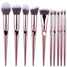 RANCAI 10/set Diamond Makeup Brushes Set Powder Foundation Eye Shadow Blush Blending Cosmetics Beauty Make Up Brush Tool Kits