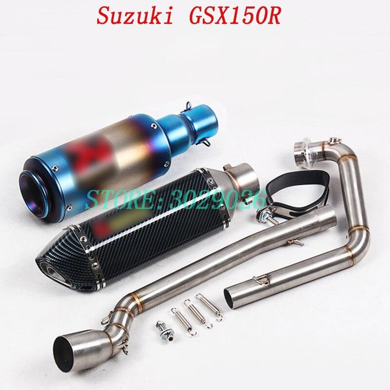 GSX150R système complet sans lacet pour Suzuki GSX150R moto modifié silencieux d'échappement Set tuyau de lien avant avec évasion