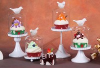 2016 New Arrival Iron Cupcake Stand With Glass Dome Dessert Cake Rack Wedding Dessert Table Display