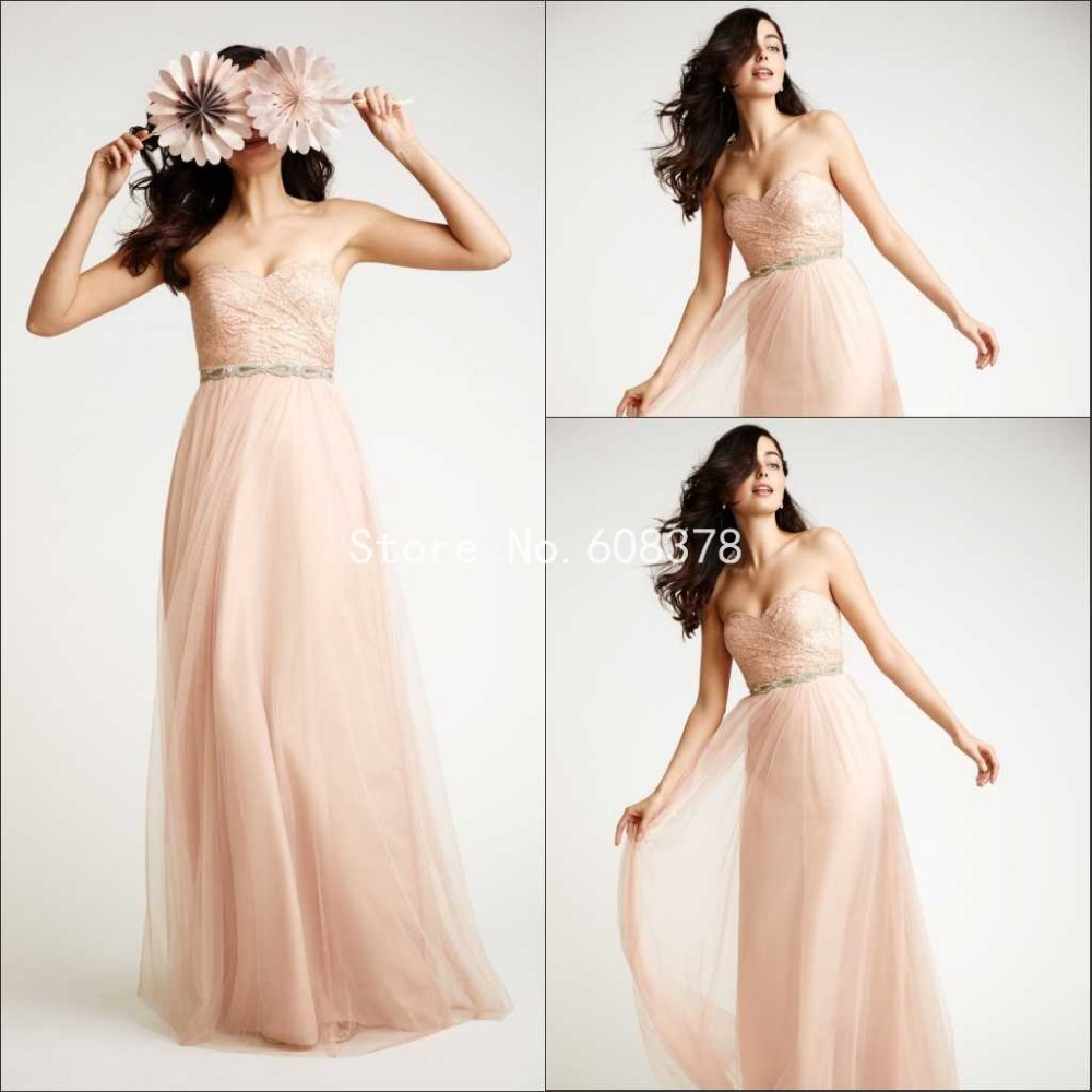 2015 romantic sweetheart champagne chiffon maid of honor for Maid of honor wedding dresses