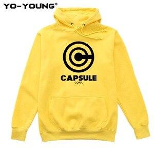 Image 1 - Yo Young Women Hoodies Sweatshirts Anime Dragon Balls Unisex Casual Capsule Corporation Print Streetwear Fleece Inside Quality